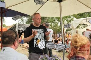 Esben Danielsen i full gång på årets festival. Foto:privat